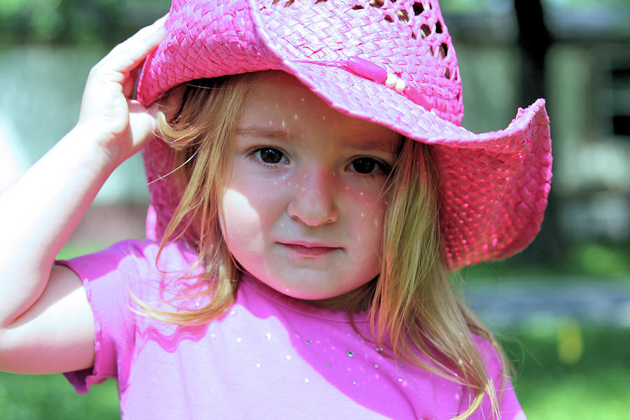 Pink Cowgirl Photograph