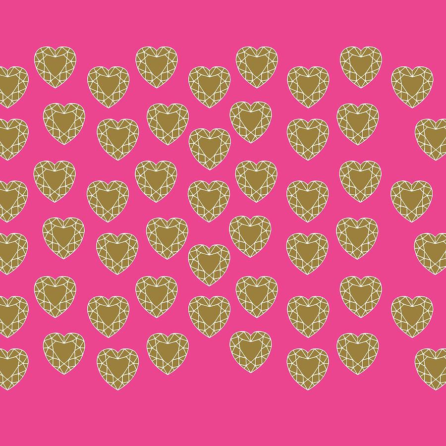 Pink Diamonds Digital Art