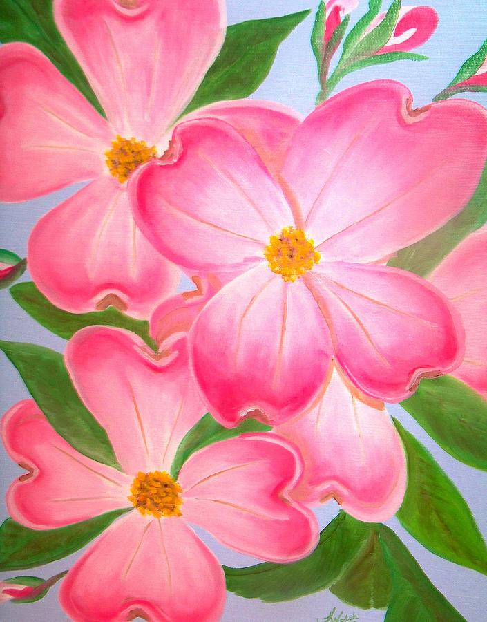 Dogwood Greeting Card - Pink Dogwood by Kathern Welsh