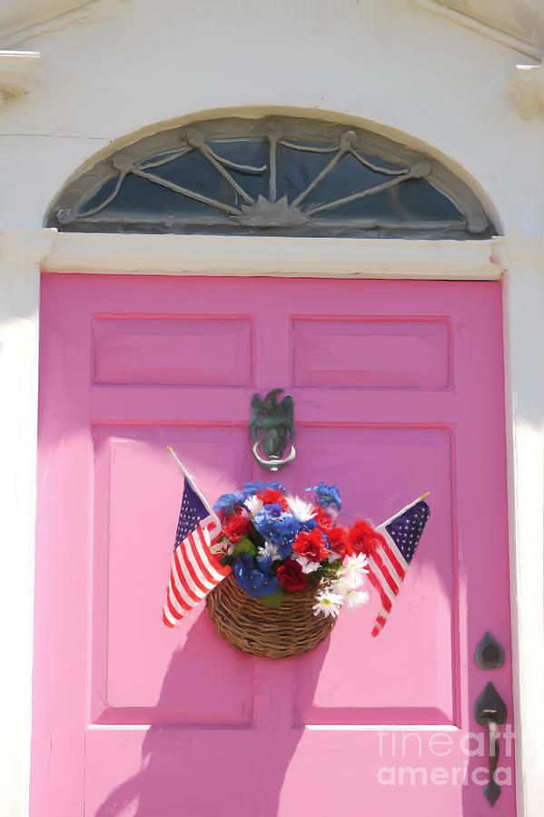 Door Digital Art - Pink Door by Susan  Lipschutz