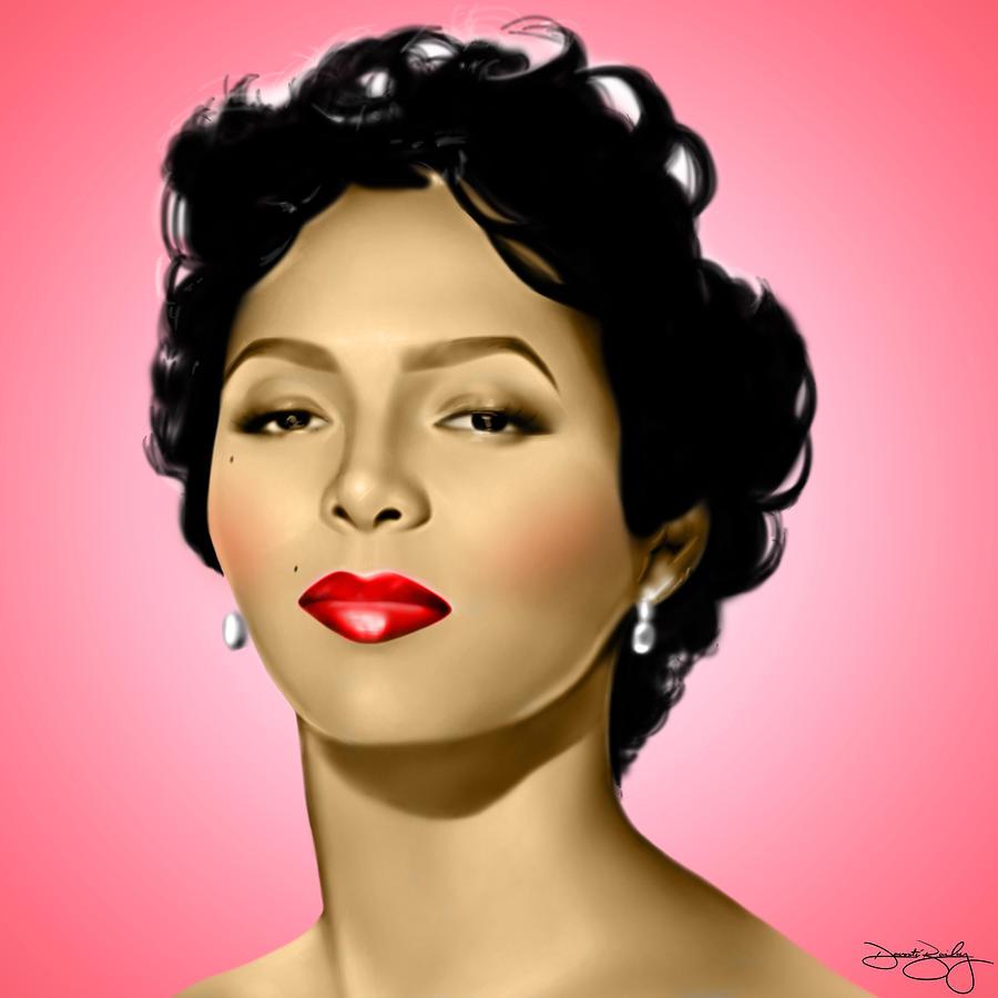 Dorothy Dandridge Digital Art - Pink Dorothy by Davonte Bailey