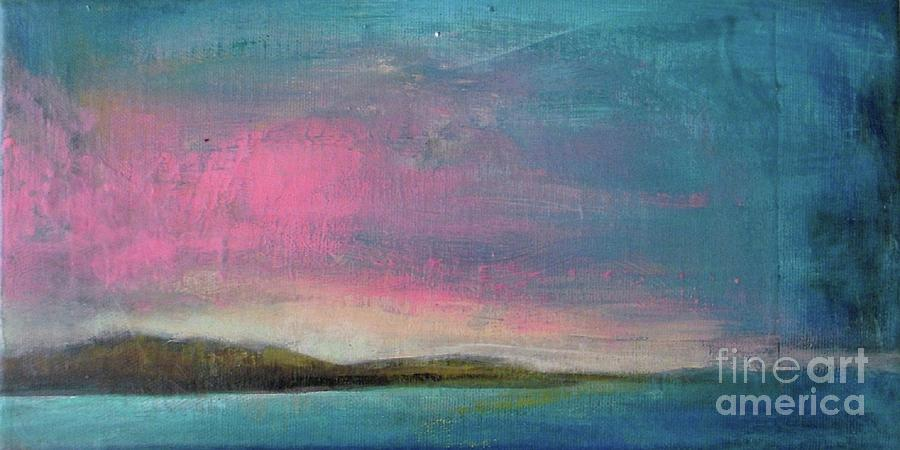 Beach Painting - Pink Dusk by Vesna Antic