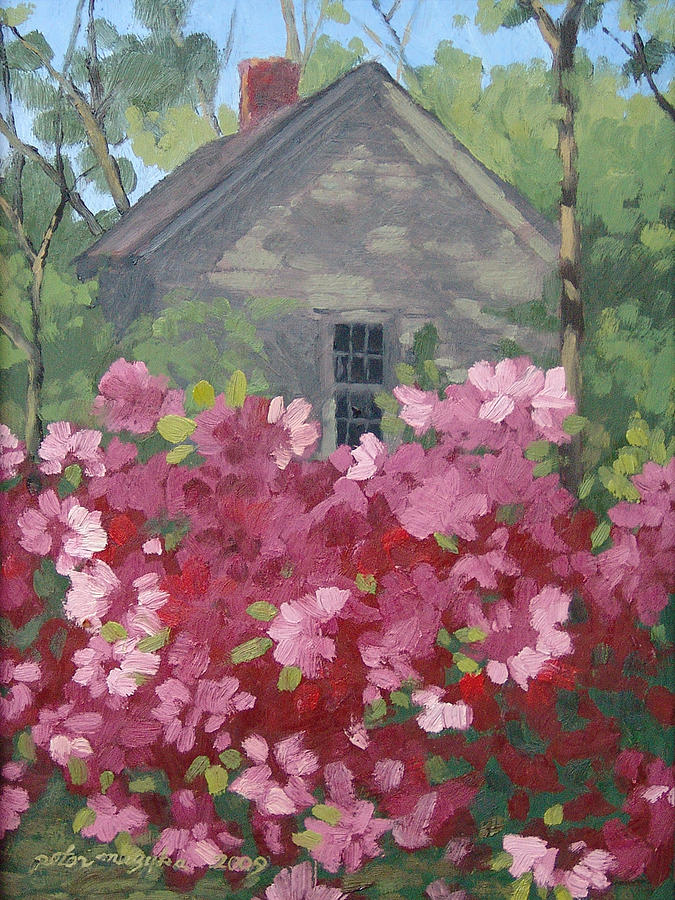Landscape Painting - Pink Explosion by Peter Muzyka