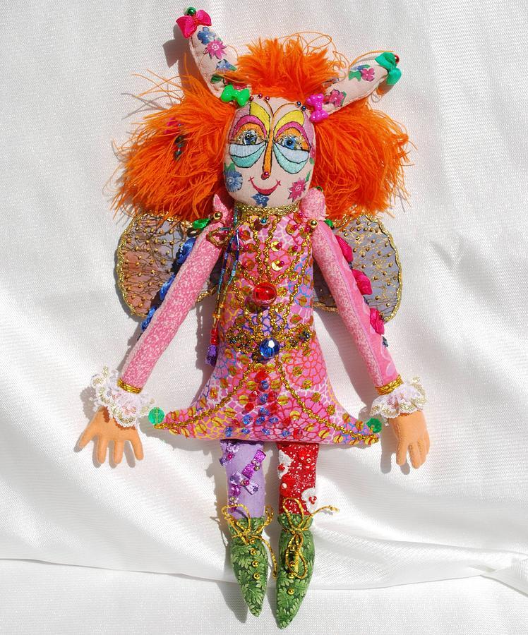 Doll Tapestry - Textile - Pink Fairy by Tamara Konovalova