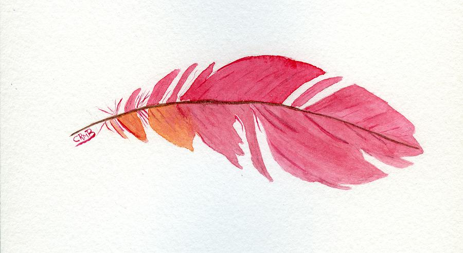 Pink Feather by Candace Bailly