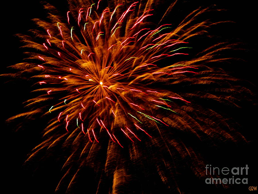Fireworks Photograph - Pink Fire by Gina Welch