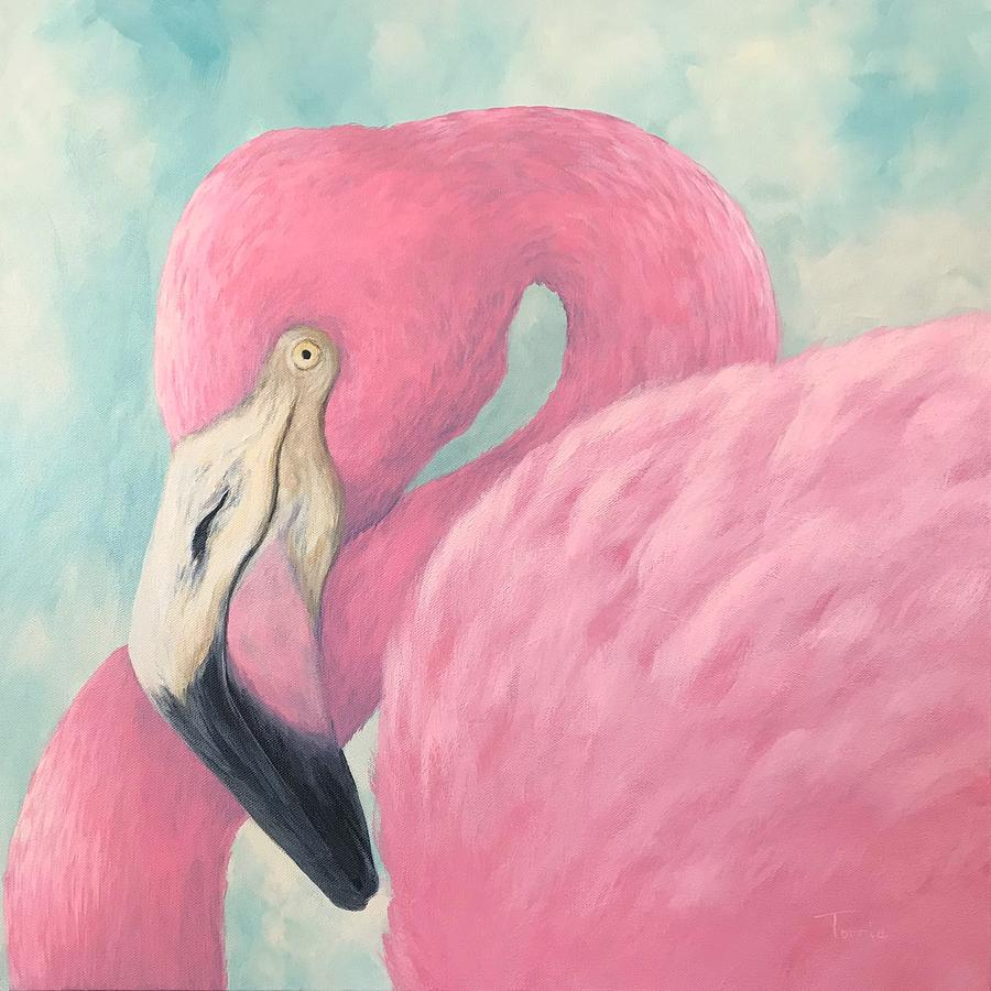 Pink Flamingo V by Torrie Smiley