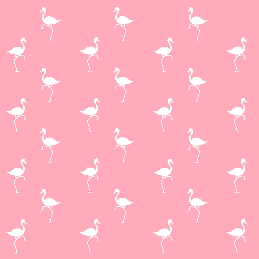 Pink Flamingos Pattern Mixed Media By Christina Rollo