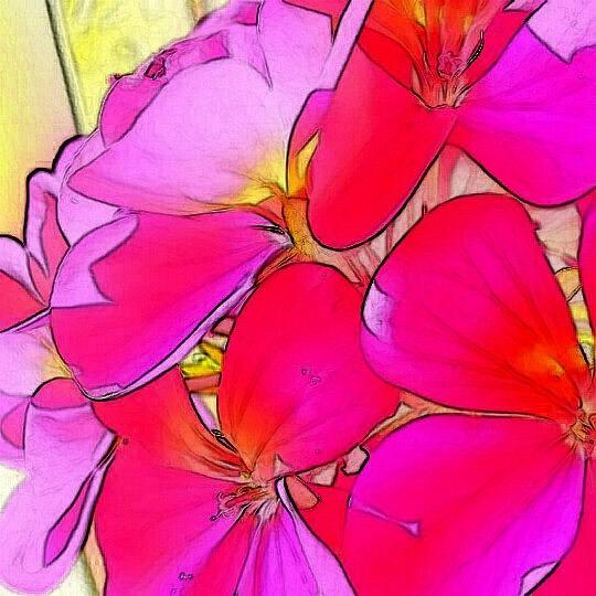 Flowers Digital Art - Pink flower by Kumiko Izumi