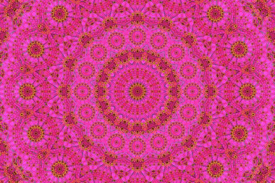 Pink Digital Art - Pink Flower Mandala by Janusian Gallery