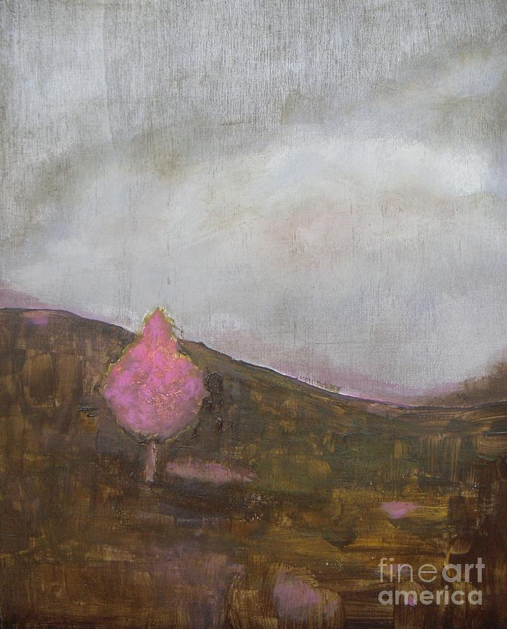 Landscape Painting - Pink Flowering Tree by Vesna Antic