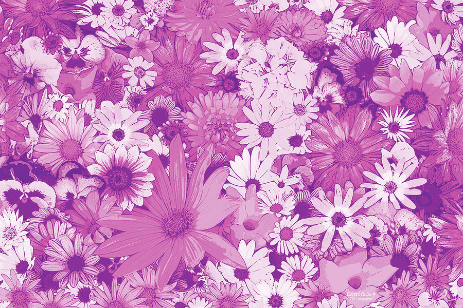 Flowers Painting - Pink Flowers by JQ Licensing