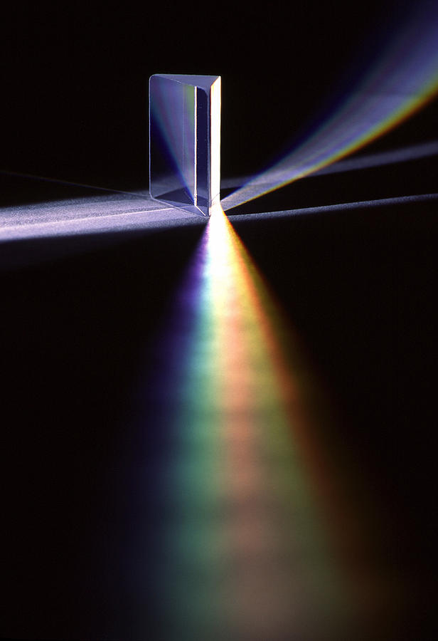 Pink Floyd; Glass; Prism; Light; Refract; Refraction; Refracting; Color; Colors; Spectrum; Optic; Optics; Photon; Photons; Physics; Science Photograph - Pink Floyd Physics by Gerard Fritz