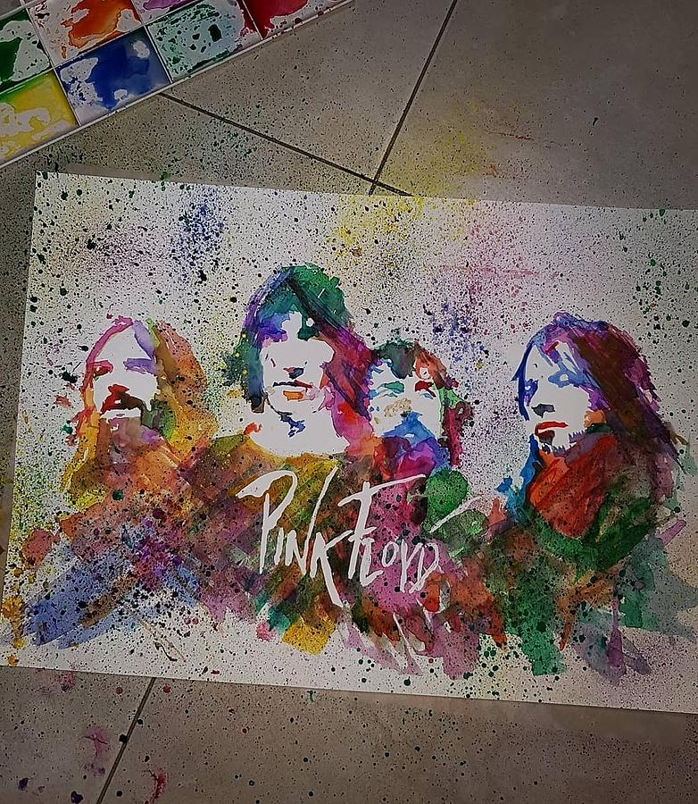 pink floyd painting by sophie holder