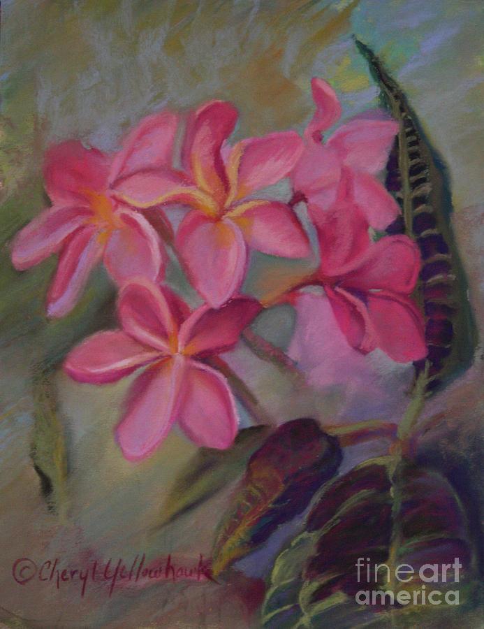 Pink Pastel - Pink Frangipannies by Cheryl Yellowhawk