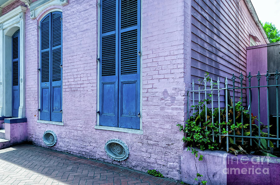 Pink French Quarter Cottage New Orleans Photograph