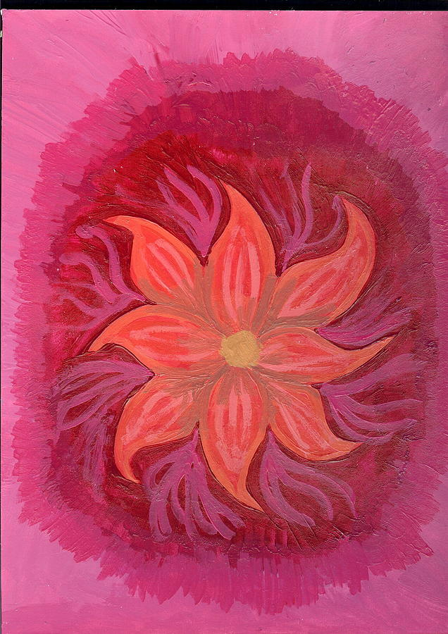 Flower Painting - Pink Fusion by Laura Lillo