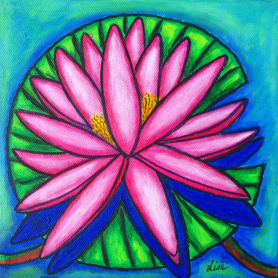 Water Lilies Painting - Pink Gem 2 by Lisa  Lorenz