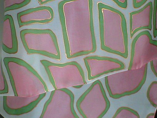 Pink & Green Painting - Pink Giraffe by Christine  Davis