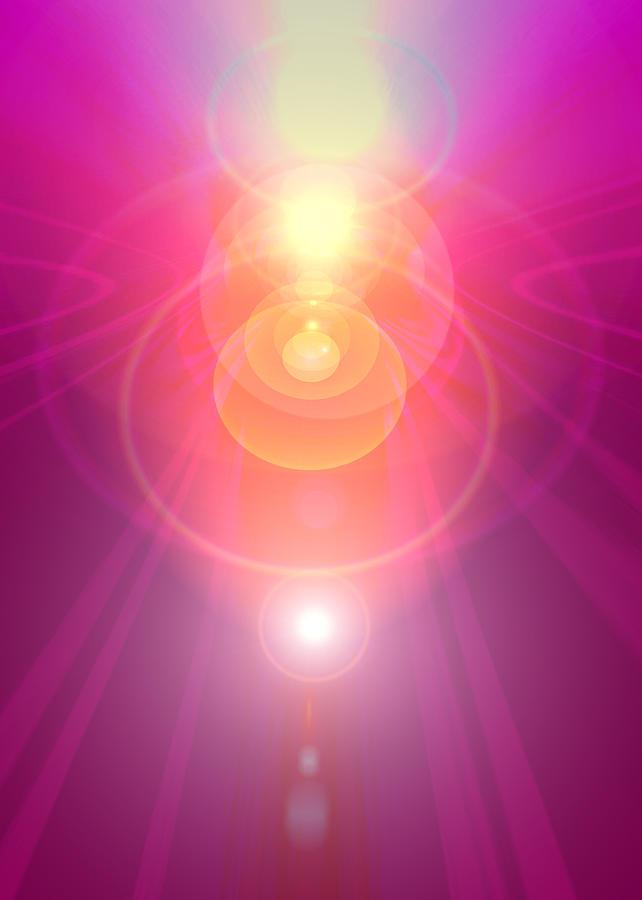 Angel Digital Art - Pink Guardian-angel by Ramon Labusch