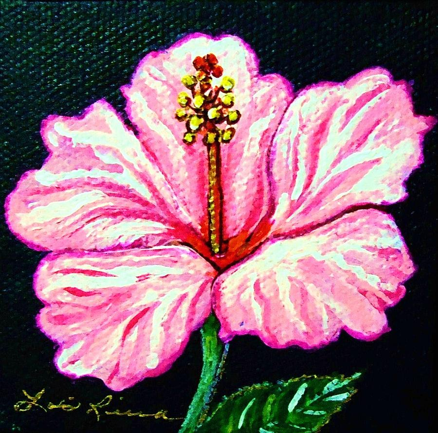 Pink hibiscus flower painting by lois rivera flowers painting pink hibiscus flower by lois rivera izmirmasajfo Gallery