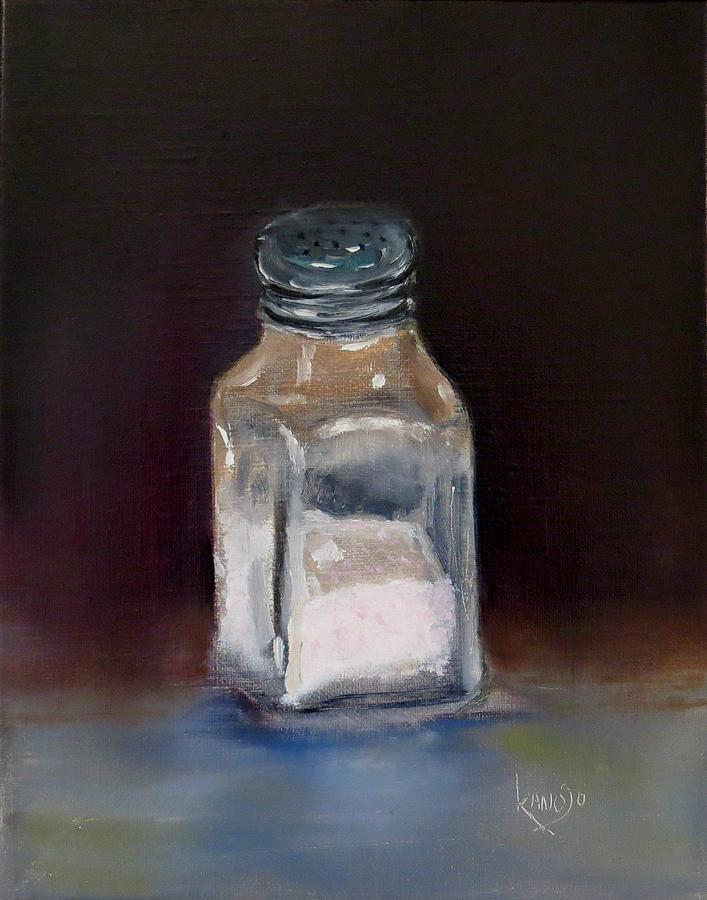 Contemporary Still Life Painting - Pink Himalayan Salt by Wendy Winbeckler - Kanojo