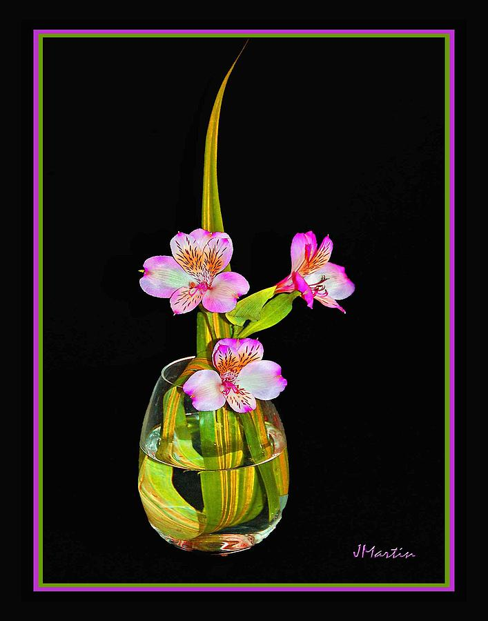 Pink In Vase Photograph by Joseph Martin