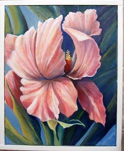 Floral Painting - Pink Iris by Eileen Kasprick