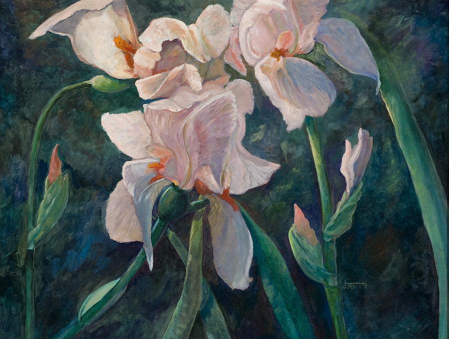 Floral Painting - Pink Iris by Jimmie Trotter