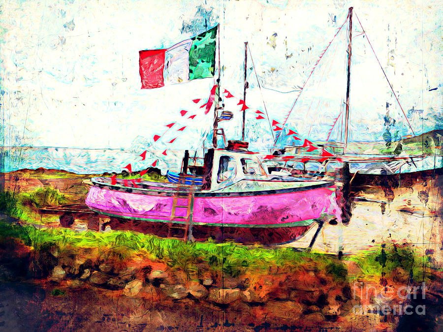 Boat Photograph - Pink Irish Boat by Claire Bull