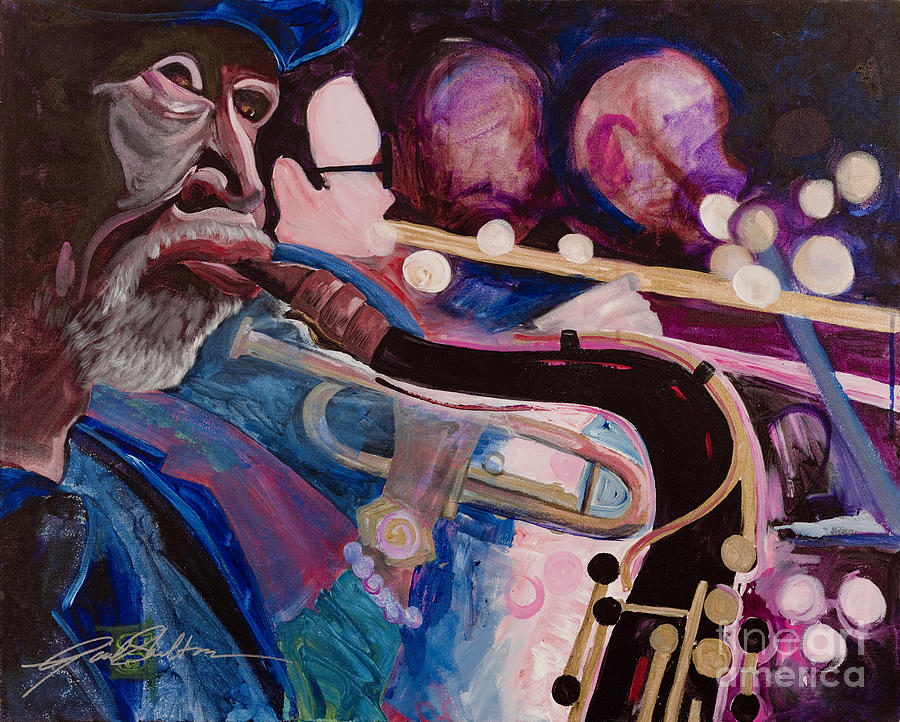 Jazz Painting - Pink Jazz by Gail Denney Shelton
