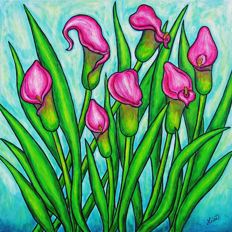 Lisa Lorenz Painting - Pink Ladies by Lisa  Lorenz