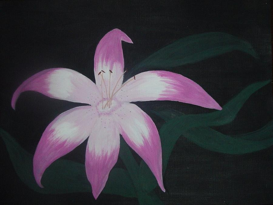 Pink Painting - Pink Lily by Melanie Blankenship