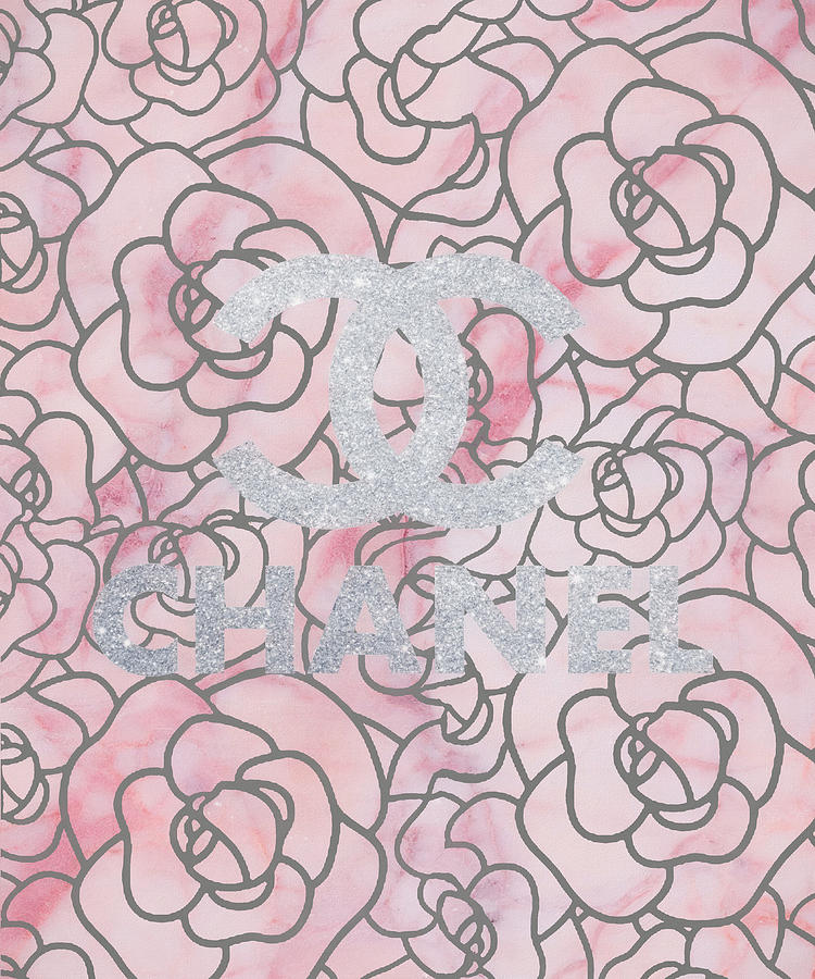 Chanel Mixed Media - Pink Marble Chanel by Dan Sproul