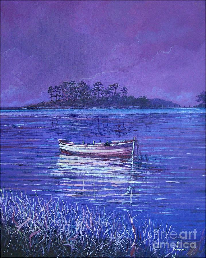 Nature Painting - Pink Marsh by Sinisa Saratlic