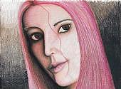 Me Drawing - Pink by Miranda Pollert
