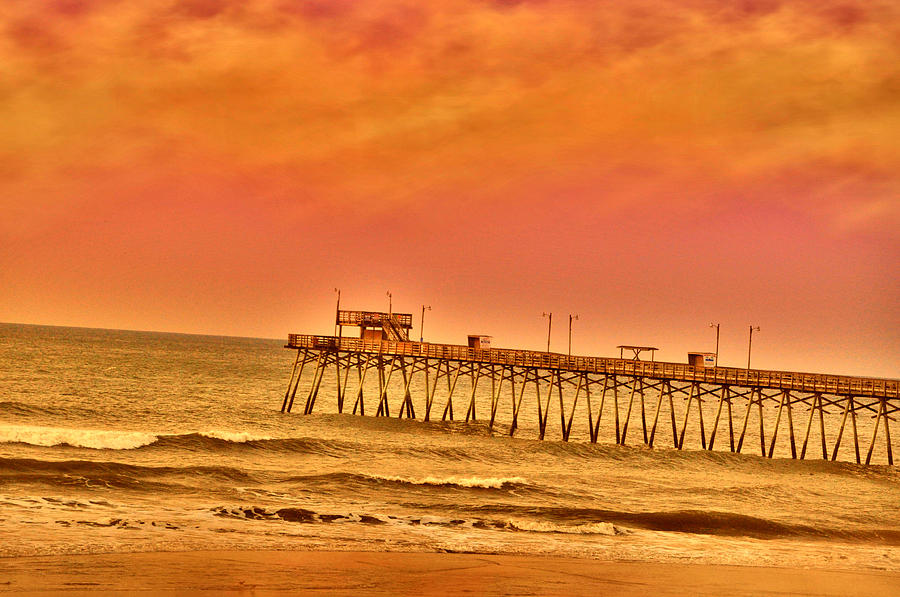 Pier Photograph - Pink Morn Pier by Emily Stauring