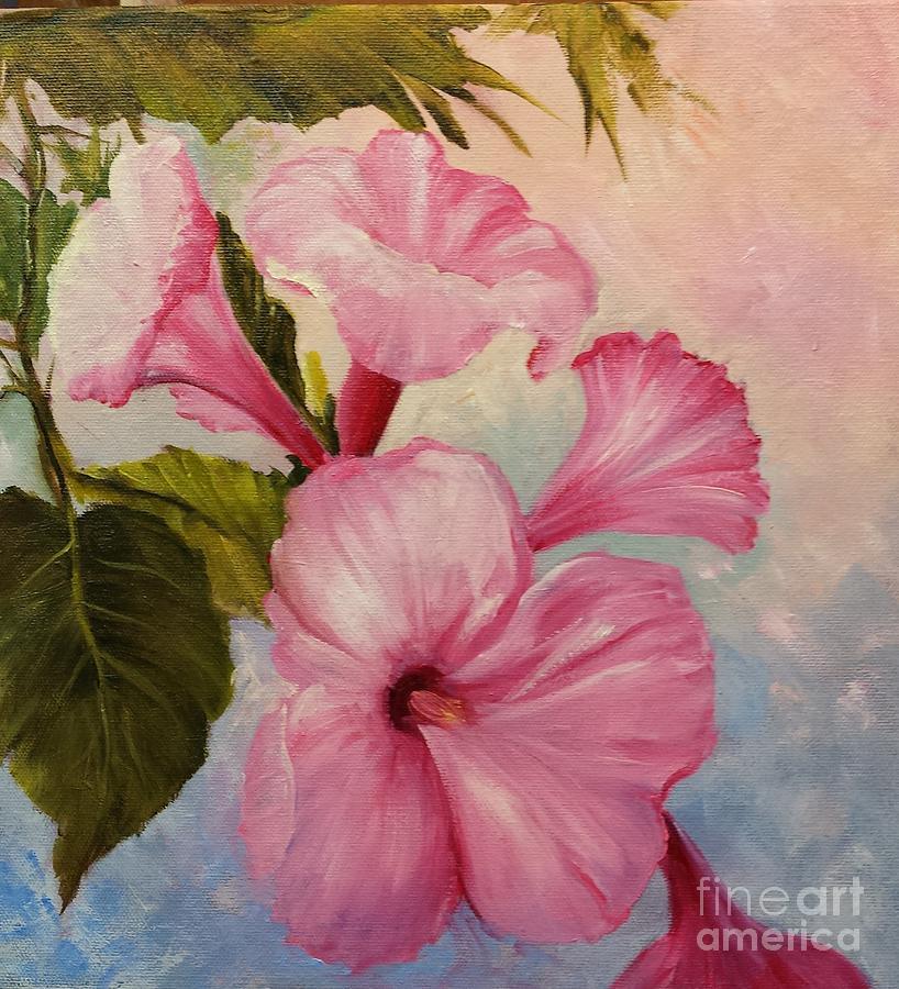 Pink Morning Glories Painting - Pink Morning Glories by Barbara Haviland