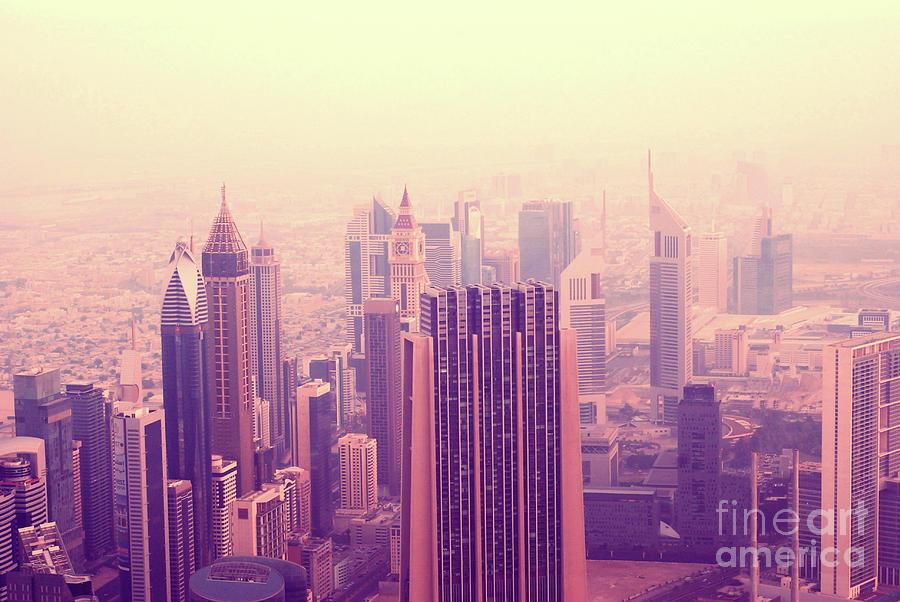 Pink Morning In Dubai Photograph