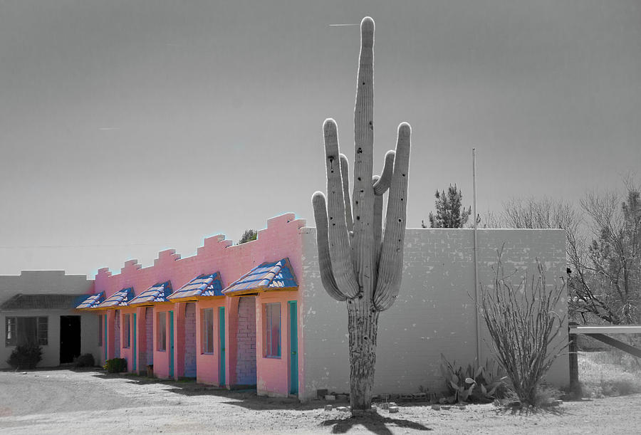 Pink Motel in Arizona by Matthew Bamberg
