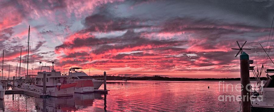 Pink Nautical Dawn.  by Geoff Childs