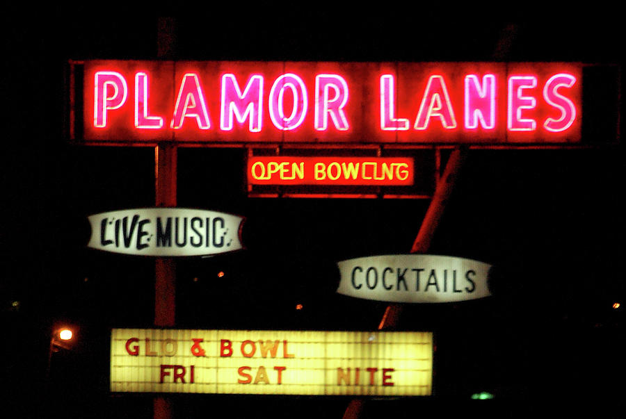 Bowling Photograph - Pink Neon by Jame Hayes