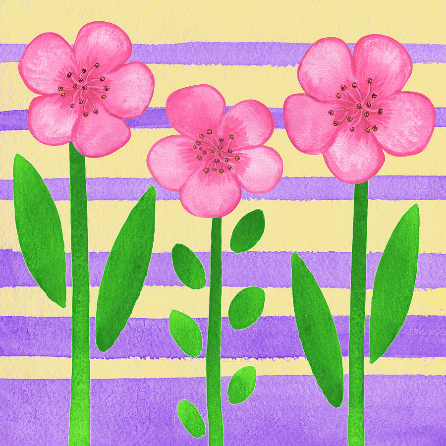 Pink On Purple Painting