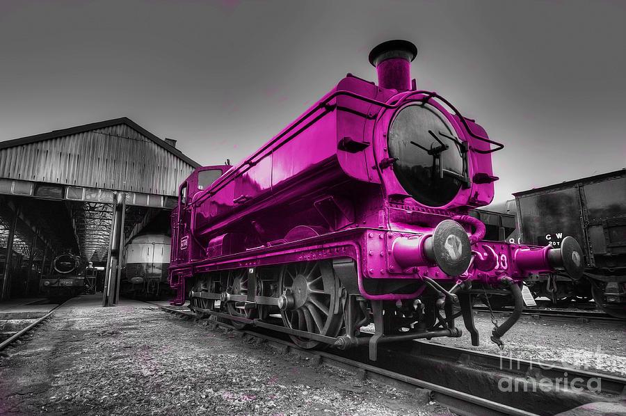 Steam Photograph - Pink Pannier  by Rob Hawkins