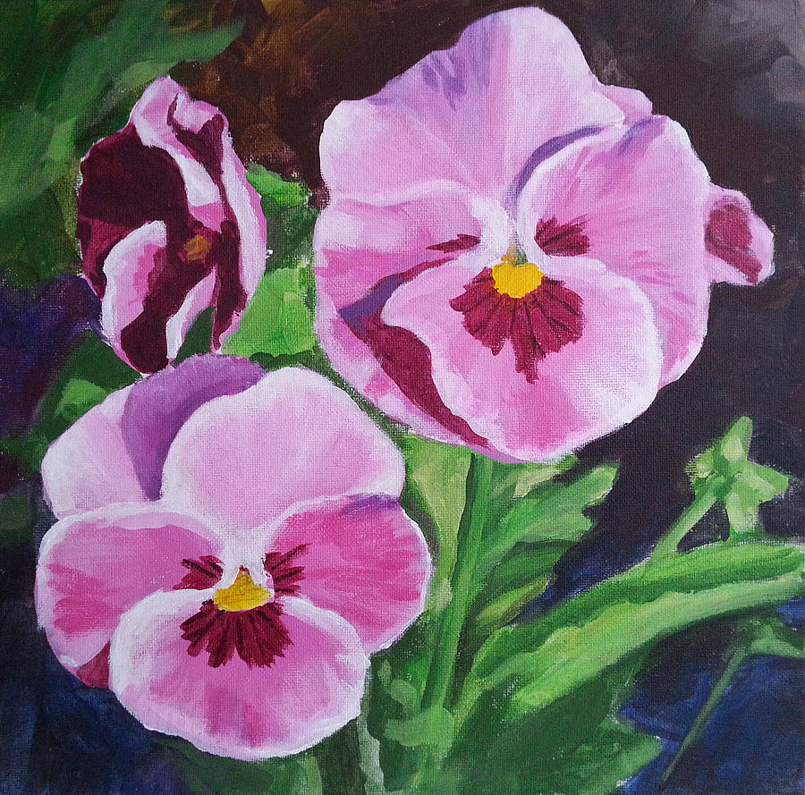 Pink pansies painting by angelina sofronova pansy painting pink pansies by angelina sofronova mightylinksfo