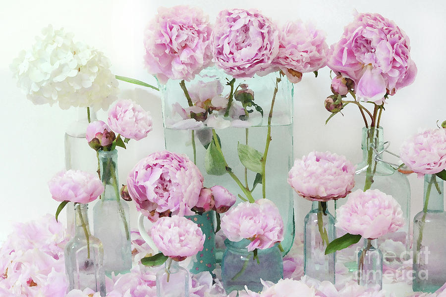 Pink peonies flowers wall art peonies pink aqua shabby chic cottage pink peonies photograph pink peonies flowers wall art peonies pink aqua shabby chic cottage watercolor mightylinksfo