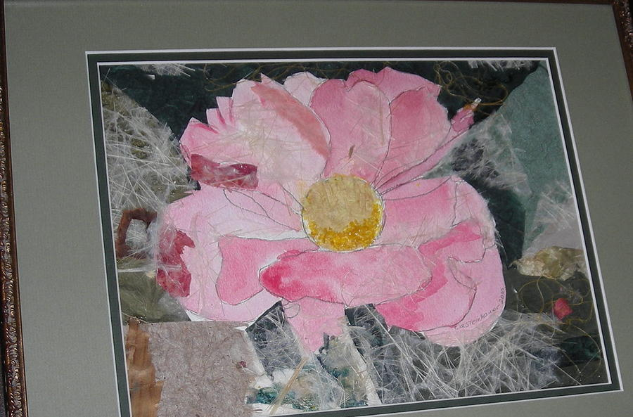 Pink Peony Mixed Media by Carol Steinhauer