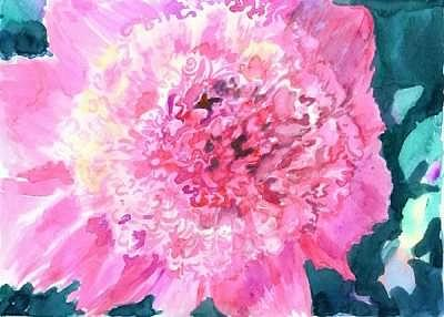 Pink Painting - Pink Peony by Mousumi Mani
