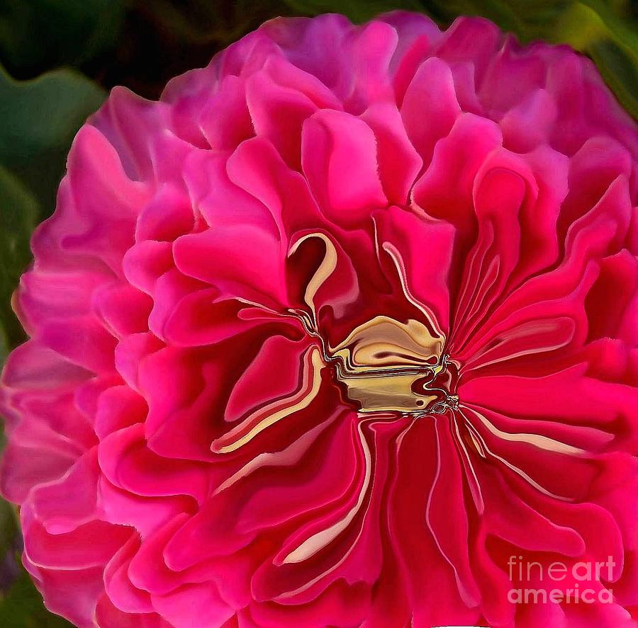 Hot Pink Photograph - Pink Perky Zinna  by Patricia A Williams