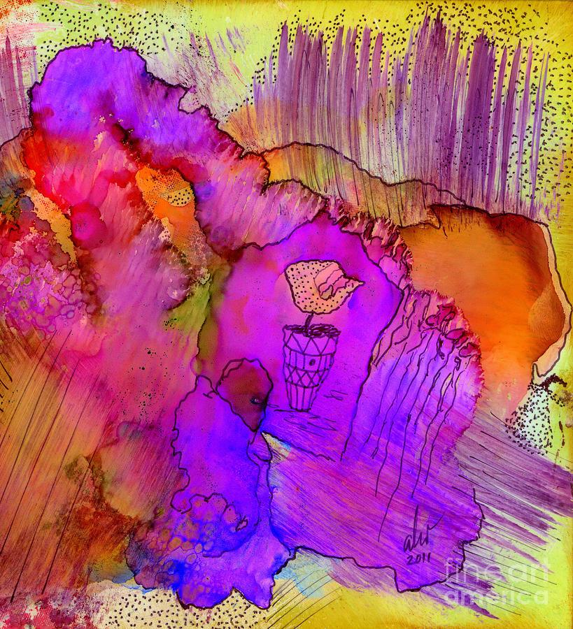 Woman Mixed Media - Pink Petals I by Angela L Walker